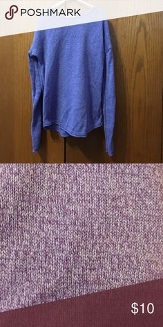 Girls sweater Purple sweater with streaks of blue. No snags. Good condition. Smoke free home. Size 10/12. Old Navy Shirts & Tops Sweaters