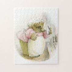 Tiggy-Winkle Jigsaw Puzzle created by feedmelinguini. Childrens Gifts, Childrens Books, Kittens, Cats, Animal Skulls, Beatrix Potter, Children's Book Illustration, Public Domain, Robots