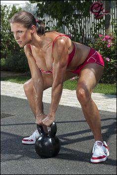 Stephanie McMahon Sexy in Bikini Working Out - Chris Zimmerman Photoshoot (2012)