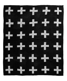Love this Black & White Swiss Cross Reversible Throw on #zulily…