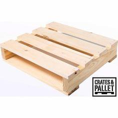 Crates and Pallet Quarter Pallet, New Wood - Walmart.com