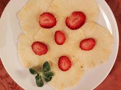 Il carpaccio di ananas
