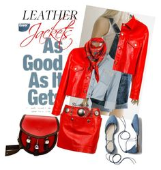 leather jackets by mandybeau on Polyvore featuring polyvore fashion style River Island Golden Goose Issey Miyake Gap Astrid Sarkissian clothing