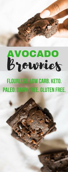 Paleo Flourless Avocado Brownies #Keto #LowCarb #GrainFree | Castaway Kitchen