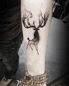 (Min order $0.5) flash palsu tato stiker tahan air tato tato temporer henna Taty tatto Bertanduk rusa
