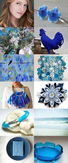 Blue eyes..... by Elinor Levin on Etsy--Pinned with TreasuryPin.com