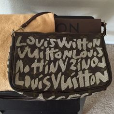 Louis Vuitton 2001 limited edition Pouchette Very well loved- Louis Vuitton 2001 limited edition Pouchette Collectors Item Louis Vuitton Bags Clutches & Wristlets
