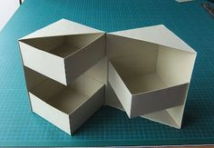 "Secret box tutorial (4 1/2"" high). I think I can use origami folds to make the outside and inside boxes."