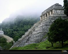 The ancient Maya ruins of Palenque sits long abandoned in the mist-shrouded jungles of southern Mexico