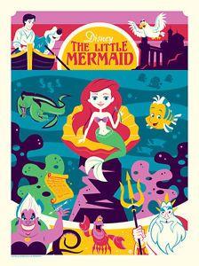Dave Perillo The Little Mermaid Print Disney Poster Art Greetings from Under Sea   eBay