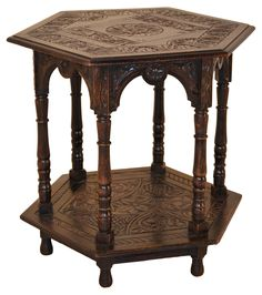 19th-C. English Carved Side Table   One Kings Lane
