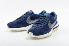 麂皮藍 x 銀色|Nike Roshe Cortez NM Premium
