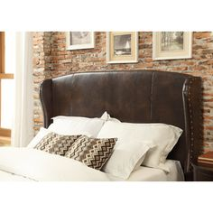 <strong>Mulhouse Furniture</strong> Chavelle Bonded Leather Upholstered Headboard