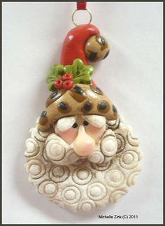 Polymer Clay Safari Santa Ornament @Tara Taylor Story. I want this.