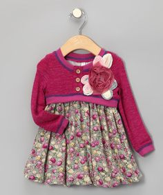 Fuchsia Layered Bubble Dress - Infant, Toddler & Girls by Banana Split by Hannah Banana on #zulily today!