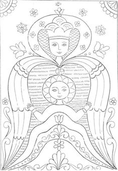 Magyar motívumok gyűjteménye Chain Stitch Embroidery, Learn Embroidery, Embroidery Stitches, Embroidery Patterns, Hand Embroidery, Free Coloring Pages, Pattern Coloring Pages, Coloring Books, Stitch Head
