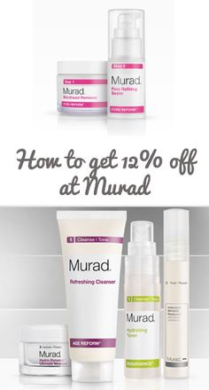 How to get a 12% discount on all Murad skincare product