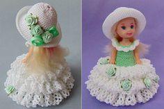 Luty Artes Crochet: vestidos de bonecas.