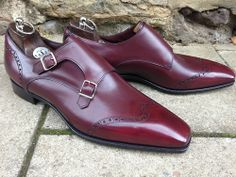 Grosvenor with Papworth stitch and punch detail. Rioja Calf with...
