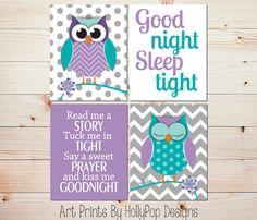 Purple Bedroom Decor Toddler Girl Art Prints She Leaves Little ...