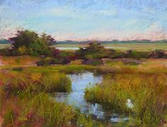 Making a Marsh Painting Better original fine art by Karen Margulis
