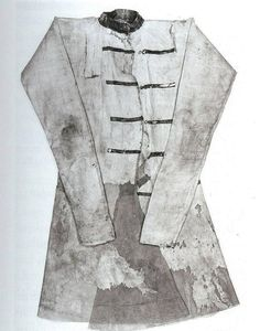 This coat is from the Moschevaya Balka finds of the 8-9th century (North Caucasus). They are identified as Alanic. It is in the Hermitage.