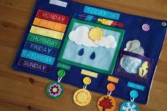 Today I Felt Crafty: Weekly Weather Felt Board