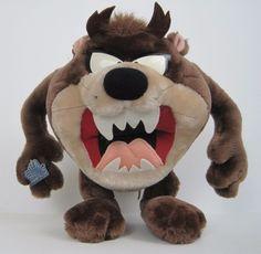 "Taz Tasmaniam Devil Hard Plush Applause 11"" Stands Up Looney Tunes  Warner Bros #Applause"