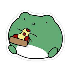 Cute Animal Drawings Kawaii, Cute Little Drawings, Cute Cartoon Drawings, Cool Stickers, Printable Stickers, Kawaii Stickers, Indie Drawings, Frog Drawing, Frog Pictures