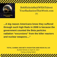 There's Something In The Air! Dodge The Rads! TOTAL GAMMA RADIATION IN YOUR RADIATION THIS WEEK NO 13 AND 14 and TOTAL GAMMA AND BETA RADIATION 2008 HIGHS NO 14X