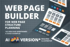 Digital Web Page Builder by UX Flowcharts on Web Page Builder, Digital Web, Media Web, Wireframe, Mockup, Design Projects, Branding Design, Social Media, How To Plan