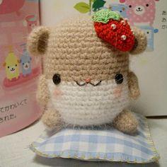 Amigurumi Strawberry Hamster.