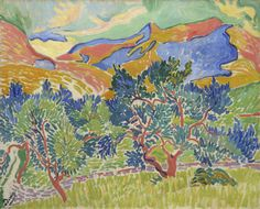 Andre Derain, Mountains at Collioure, Wild Beast on the Beach & in the Forest: Matisse,Derain & Braque Henri Matisse, Andre Derain, National Gallery Of Art, Landscape Art, Landscape Paintings, Landscape Drawings, Fauvism Art, Maurice De Vlaminck, Raoul Dufy
