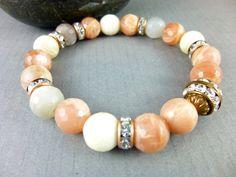 "Moonstone Bracelet ""New Beginnings"" cleansed & energy activated by EarthEnergyGemstones"