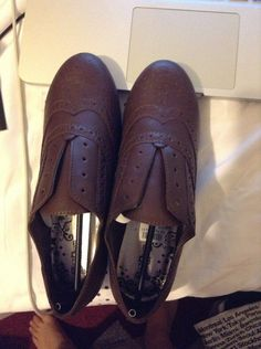 brand: brash by payless brown. laceless. size 5 womens  brand new never worn, comes with box (shipping may cost extra with box) (SO NEW, that I put it on my bed and laptop and took pics, LOL)