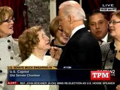 Joe Biden acts like Chester the Molester at swearing in ceremony | BizPac Review And this is another one two years earlier. Just creepy when putting the years different media reports together