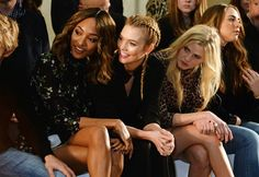These Models Traded the Catwalk For a Comfy Seat at London Fashion Week