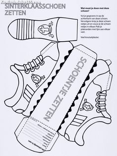 Außergewöhnlich Sinterklaas Schuh - Knutselpagina.nl - Friemeln, Friemeln und mehr ...  #friemeln #knutselpagina #schuh #sinterklaas