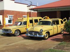 Historic ambulances on display during Gayndah Ambulance Station's 60th anniversary celebrations in 2009. #qas #ambulance #gayndah