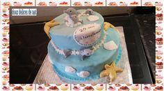 1er étage : gâteau aux fruits rouges , confiture de fraises , déco en pâte à sucre ... 2ème étage : gâteau aux fruits exotiques , confiture abricot-mangue , déco en pâte à sucre ...