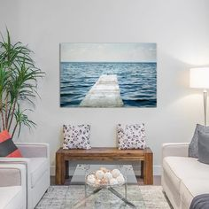 """East Urban Home Calm Days I Photographic Print on Wrapped Canvas Size: 26"""" H x 40"""" W x 1.5"""" D"""