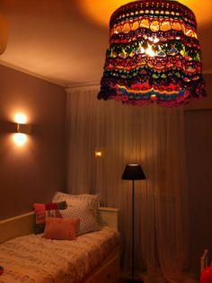 Gypsy Crochet Lampshade!