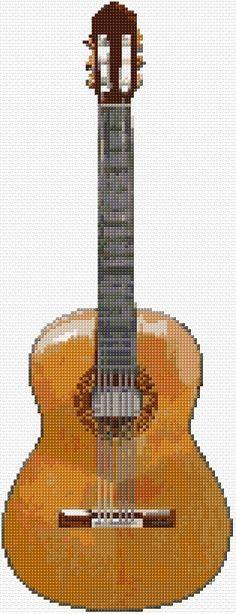 Cross Stitch | Classic Guitar xstitch Chart | Design | best stuff
