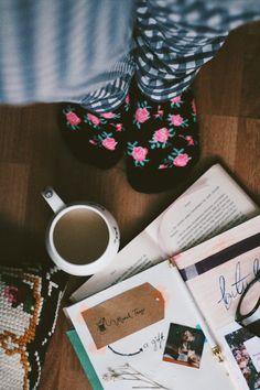 Tea and cozy socks