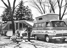 The Kamping Krugs in their Dodge Family Wagon for Weber Barbeque