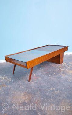 Brown Saltman Coffee Table Designed By John Keal On Etsy, $1,425.00