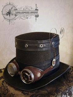 Steam-Aristocrat Top Hat and Goggles
