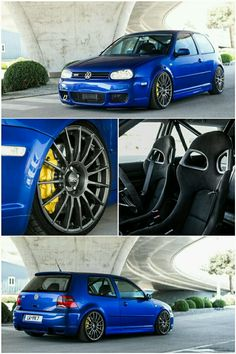 Volkswagen Golf Mk4 R32 VR6 with 6 piston calipers and OZ wheels