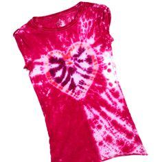 Tie-Dye Heart Shirt @ www.ilovetocreate.com. Lots of cute craft ideas!