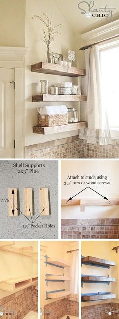 Home Design Ideas: Home Decorating Ideas Bathroom Home Decorating Ideas Bathroom Check out the tutorial: DIY Rustic Bathroom Shelves #decoratingbathrooms #bathroomideas #diyhomedecor #bathroomhomedecoration